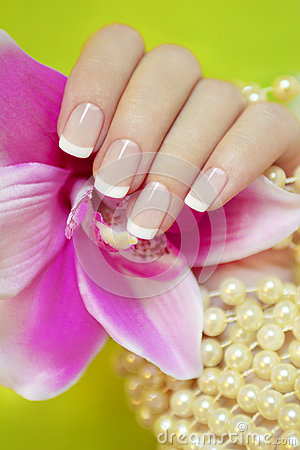 Free French Manicure. Stock Photography - 28563992
