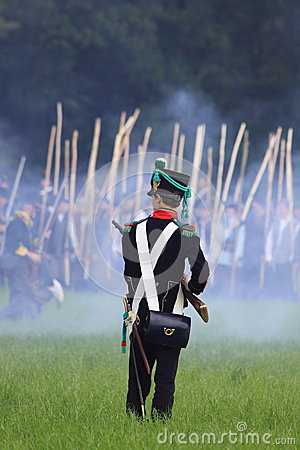 French medieval soldier on the battlefield Editorial Stock Image
