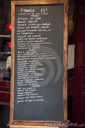 Free French Menu Royalty Free Stock Images - 17789139