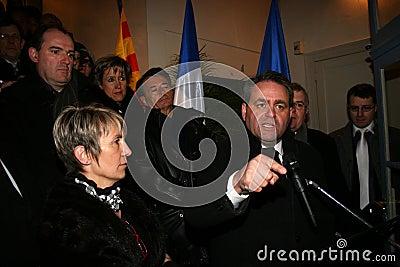 French minister's Xavier Bertrand Editorial Stock Photo