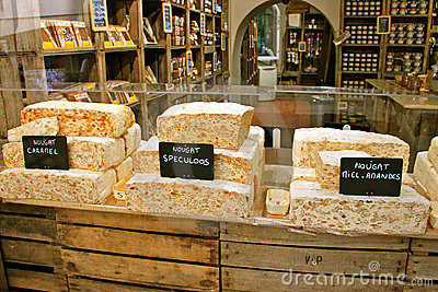 French Nougat Delicatessen Editorial Stock Photo