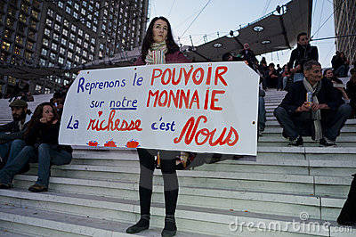 French Occupy France, Protest Teenagers Editorial Stock Photo