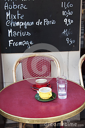 Free French Outdoor Cafe Stock Photos - 27516423