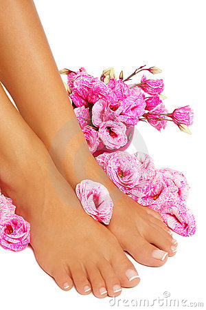 Free French Pedicure Stock Image - 20455201