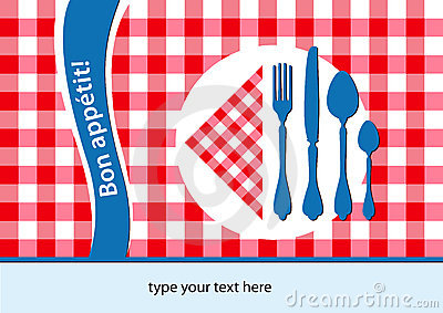 French placemat background