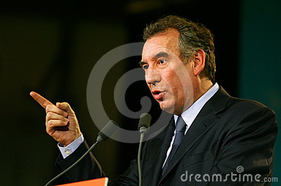 French politician Francois Bayrou Editorial Stock Image