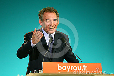 French politician Francois Bayrou Editorial Stock Photo