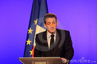 French President s Nicolas Sarkozy Editorial Stock Image