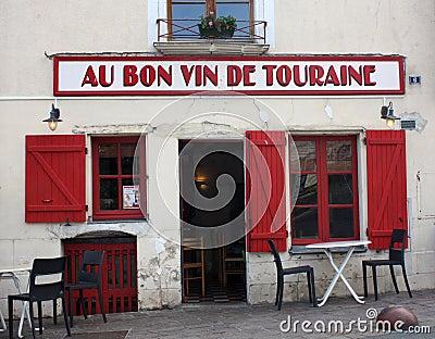 French restaurant at azay le rideau editorial image - Restaurant les grottes azay le rideau ...