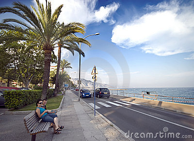 French riviera in Menton