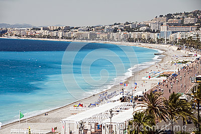 The French Riviera Nice France beach