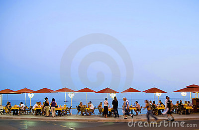 French riviera promenade