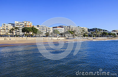 French Riviera in winter, Cannes, France Editorial Stock Photo