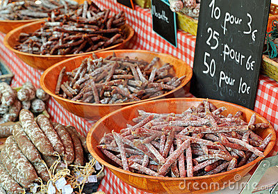 French saussage at Provence market