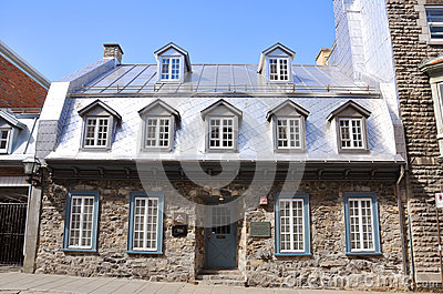 French Style House in Old Quebec City, Canada Editorial Photography