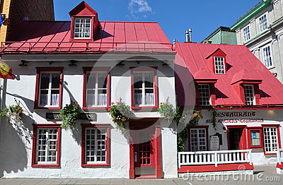 French Style House in Old Quebec City Editorial Photography