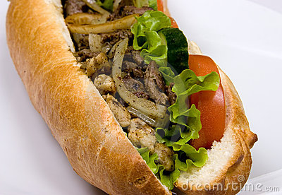 A french sub sandwich