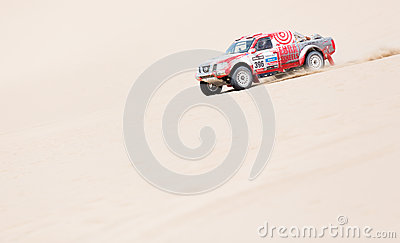 French team Dakar 2013 Editorial Stock Photo