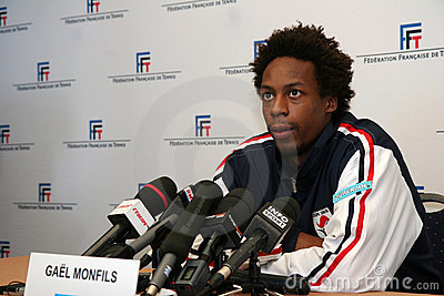 French tennisman s Gael Monfils Editorial Image