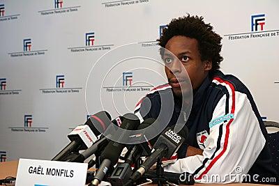 French tennisman s Gael Monfils Editorial Image