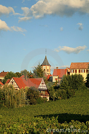 Free French Village, Alsace, France Stock Images - 4832864