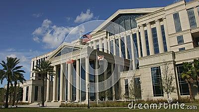 Frente del tribunal del condado de Duval en Jacksonville, la Florida almacen de video