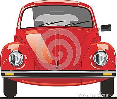 Frente rojo del escarabajo