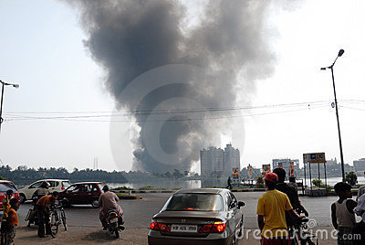 Frequent fire at slums of Kolkata Editorial Stock Photo