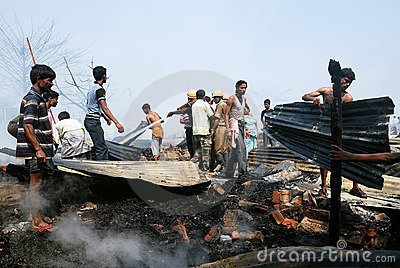 Frequent fire at slums of Kolkata Editorial Photography