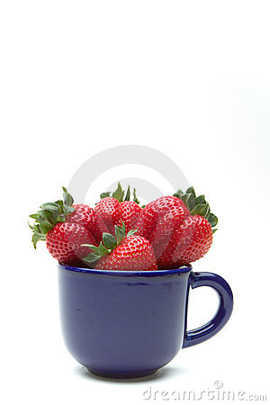 Fresas en una taza
