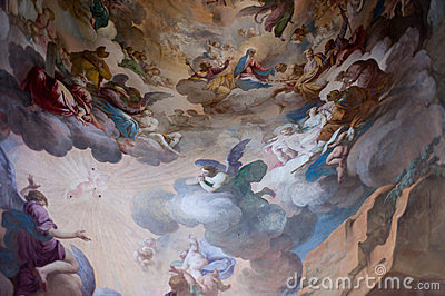 Fresco in Sacro Monte, Unesco Editorial Photography