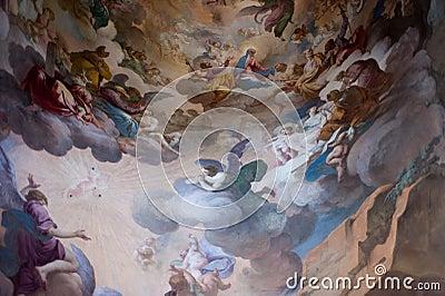Fresco in Sacro Monte, Unesco Editorial Photography
