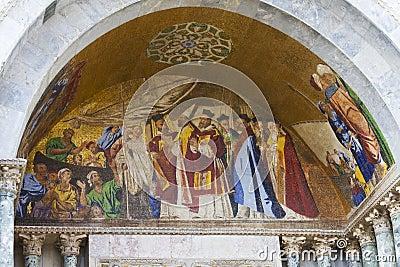 Frescoes. Basilica of Saint Mark. Venice, Italy