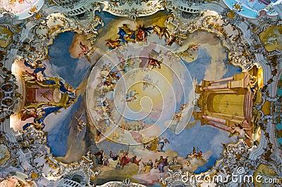 Frescoes of wieskirche church