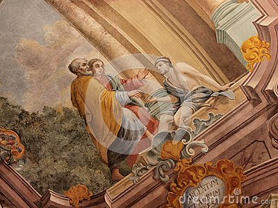 Frescos in Lublin s cathedral, Lublin, Poland