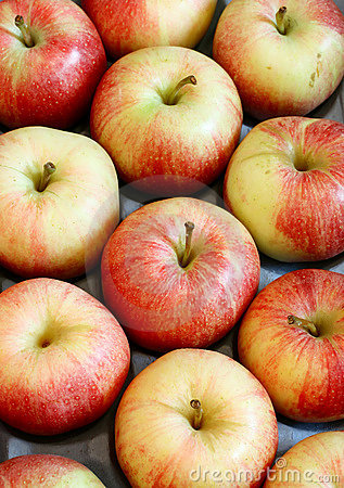 Fresh apples - fruit background