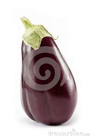 Fresh aubergine isolated on a white.
