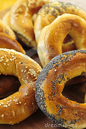Free Fresh Bagels Royalty Free Stock Images - 5504069