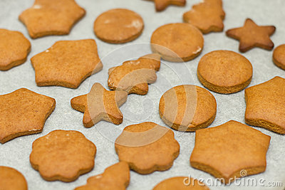 fresh baked gingerbread cookies stock photo image 54578814