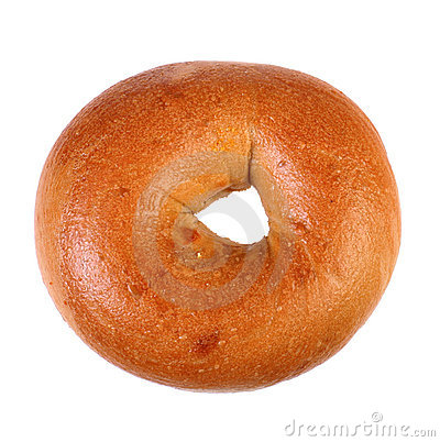 Free Fresh Baked Plain Bagel Royalty Free Stock Image - 4734526