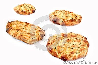 Fresh baked Ramadan pitas