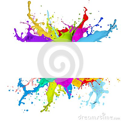 Free Fresh Banner With Colorful Splash Effect Stock Photography - 44189852