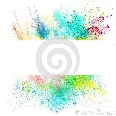 Free Fresh Banner With Colorful Splash Effect Royalty Free Stock Image - 44226576