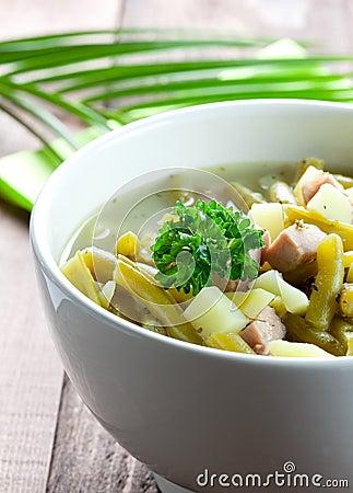 Fresh bean stew