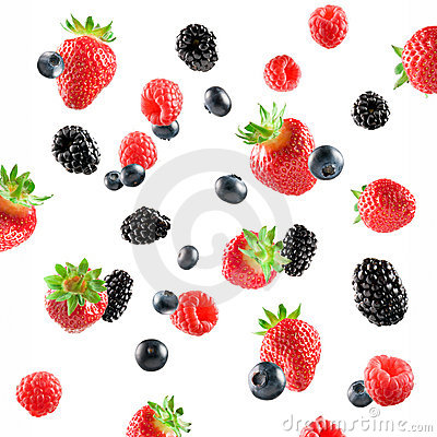 Free Fresh Berries Explosion Royalty Free Stock Photography - 11862497