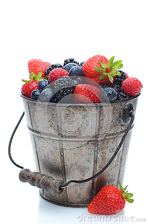 Free Fresh Berries In Pail Royalty Free Stock Image - 24629046