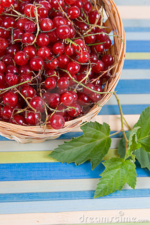 Fresh berries in a wicker basket