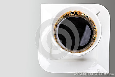 Fresh black coffee