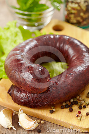 Fresh blood sausage