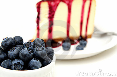 Fresh Blueberries And Cheesecake